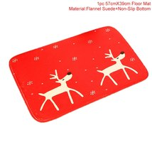 Flannel Merry Christmas Door Mat Rug Christmas Decoration for Home  - $15.90