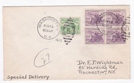 NRA #732 BLOCK US FIRST DAY COVER WASHINGTON DC AUGUST 15 1933  - $2.98