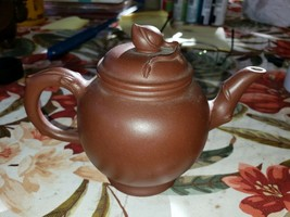Chinese Late 20th century well shaped Darker Clay Yixing Teapot China - $78.35