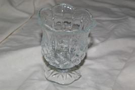 Home Interiors Stemmed Crystal Glass Votive Homco - $5.00