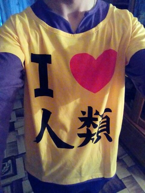 Sora Cosplay T-Shirt No Game No Life Anime Long Sleeve I Love Humanity Casual