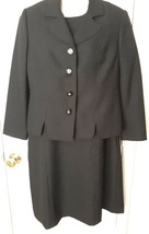 Henry Lee Petites Size 10P Black 2 Piece Dress Jacket Suit Set Exquisite... - $17.70