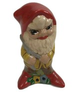 Vintage Collectible Gnome Elf Figurine with wishbone Pixie Fairy Cottage... - $17.81