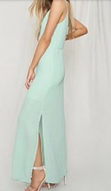 Forever 21 Pretty By Rory Mint Seafoam Chiffon Cami Strappy Long Maxi Dress XS image 2