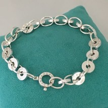 """Tiffany & Co Sterling Silver 1837 Round Circle Link Bracelet 7.5"""" - $299.00"""