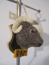 Harrods Plush Sculpted Mounted Ram Animal Head Ornament Plaque Taxidermy - $12.00