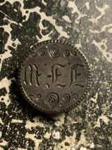 Love Token on 1853 U.S. Seated L.B. 10 Cents J.F.W Monogram Lot#Q4171 Si... - $23.38