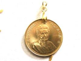 "Italy Coin Pendant""Maria Montessori"".Hand made pendant.art6171-194.37th ... - $45.00"