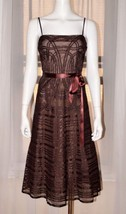 BCBG MAXAZRIA Evening Brown Cocktail Party Prom Dress Gown sz 6 Small S ... - $37.16