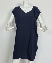 DKNY Donna Karan Dress Navy Blue ruffled Cocktail Formal size L - $39.99