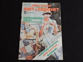 Mon Tricot Magazine Knit & Crochet 1976 Patterns Knitting Afghan Poncho ... - $17.28
