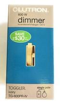 Lutron Toggler 600-Watt Single-Pole Dimmer, Ivory, 2-Pack - $18.99