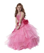 Tiffany Princess Little Girls' Beaded Ruffled Pageant/Flower Gown Dress ... - €190,22 EUR