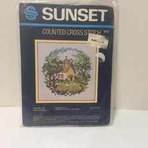 """Chapel in the Woods Cross Stitch Kit Sunset 5"""" x 5"""" - $9.74"""