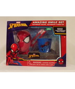 NEW SEALED Marvel Spider-Man Great Smile Set Toothbrush + Holder + Cup - $13.99