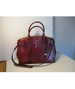Authentic Brahmin Audra Pecan Melbourne Carryall Embossed Leather NWT G Receipt - $316.79