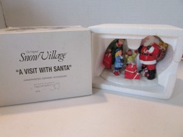 DEPT 56 7676 A VISIT WITH SANTA FIGURINE SNOW VILLAGE ACCESSORY  L126 - $13.66