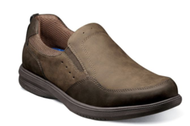 Nunn Bush KORE Walk Moc Toe Slip On Shoes Comfortable Dark Brown 84834-201 - €65,66 EUR