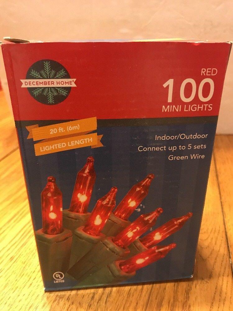 Red 100 Mini Lights 21ft. Indoor/Outdoor Ships N 24h - $18.79