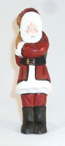 Hand Carved & Painted Wood Folk Art Santa Figure Earl Houck Gordonville, PA - $55.00