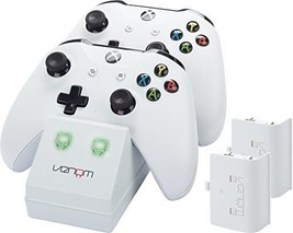 Venom Xbox One Twin Docking Station with 2 x Rechargeable Battery Packs: White - $22.39