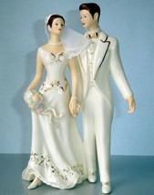 Lenox Bride & Groom Cake Topper Just Married Figurine Handpainted New In... - $74.90