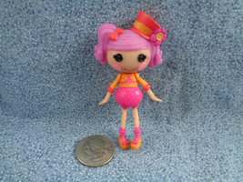 "Mini 3 "" Lalaloopsy Doll Pink Hair Orange & Pink Outfit w/ Top Hat MGA - $3.22"
