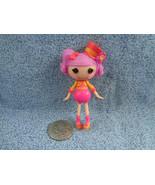 """Mini 3 """" Lalaloopsy Doll Pink Hair Orange & Pink Outfit w/ Top Hat MGA - $3.22"""