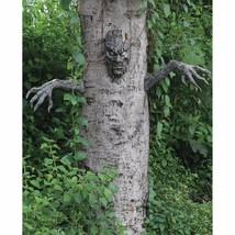 Scary Living Tree Halloween Decoration Head & Arms Outdoor Prop Live Tre... - $29.60