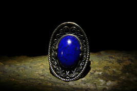 Haunted Powerful Male VAMPIRE Immortal Entity Antique Designer Lapis Ring izida - $444.00