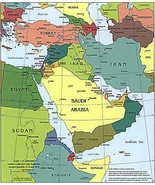 2003 CIA Map of the Middle East Political Wall Art Poster School Teacher... - $12.87+