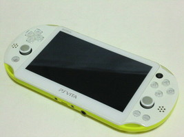 SALE USED PlayStation Vita Wi-Fi Console System PCH-2000 Lime Green PS Vita - $157.56 CAD
