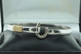 "Vintage AJI (ca. 1978) Sterling and 14K Wire Wrapped Bracelet (7 1/4"") - $125.00"