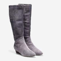 Cole Haan Tali Luxe Boot (40mm) - Extended Calf Stormcloud Suede Size 7.5B - $186.68