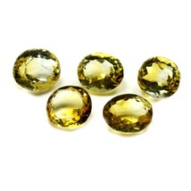 5 PCS 14X10 MM Natural Citrine Loose Gemstone Oval Cut Faceted Yellow St... - $39.70