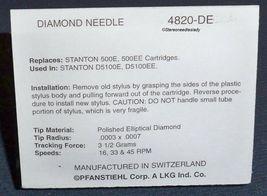4820-DE STYLUS NEEDLE for Stanton D5100EE 500EE any Stanton Broadcast image 4