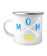 Living The Mom Life - 12 oz enameled stainless steel Camp Mug  - £13.07 GBP