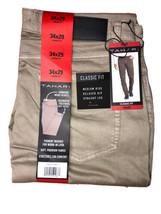 Tahari Mens Classic Fit Pants 5-Pocket KHAKI Mens 34x29 - NEW  - $22.76