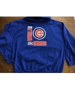 2016 World Series Champions Chicago Cubs 3XL Blue Hoodie Mint - $26.59