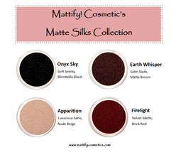 Fall Eyeshadow Colors Matte Brown Black Red + Shimmery Nude Winter Eye M... - $12.13