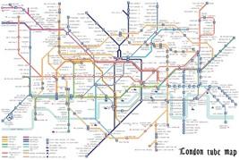 Counted Cross Stitch Pattern Tube map London pdf chart 493x326 stitches ... - $3.99