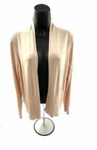 Ann Taylor loft Women's Pale pink open front cardigan size large - $19.34