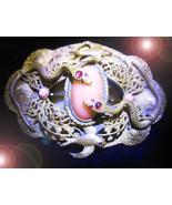 HAUNTED VICTORIAN CORAL BROOCH ANCIENT GRAIL LINEAGE MAGICK ALEXANDRIA T... - $222.22
