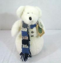 """Boyds Bears Eunice P Snowberry Teddy Bear Snowman Plush 10"""" Christmas Ho... - $14.84"""