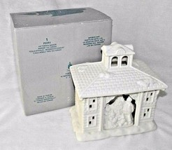 Victorian Manor Bisque Tea Light Partylite P0291 Christmas Family Tree House Box - $23.75