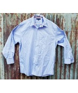 Men's Tommy Hilfiger Blue Long Sleeve Button Down Dress Shirt Size 17.5 ... - $11.30