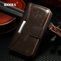 For Luxury Wallet PU Leather Case iPhone 4 4S vintage LOGO Apple iphoes Cover ID - $18.89+