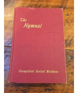 Vintage 1957 Evangelical United Brethren Hymnal Red Hardcover Christian ... - $23.99