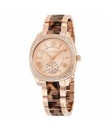 Michael Kors MK6276 Bryn Rose Gold Tortoise Wrist Watch for Women - £83.19 GBP
