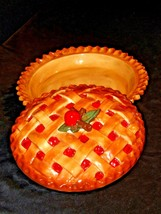 Stoneware Cherry Pie Keep Baking Dish with Decorative Lid AA19-1457 image 1